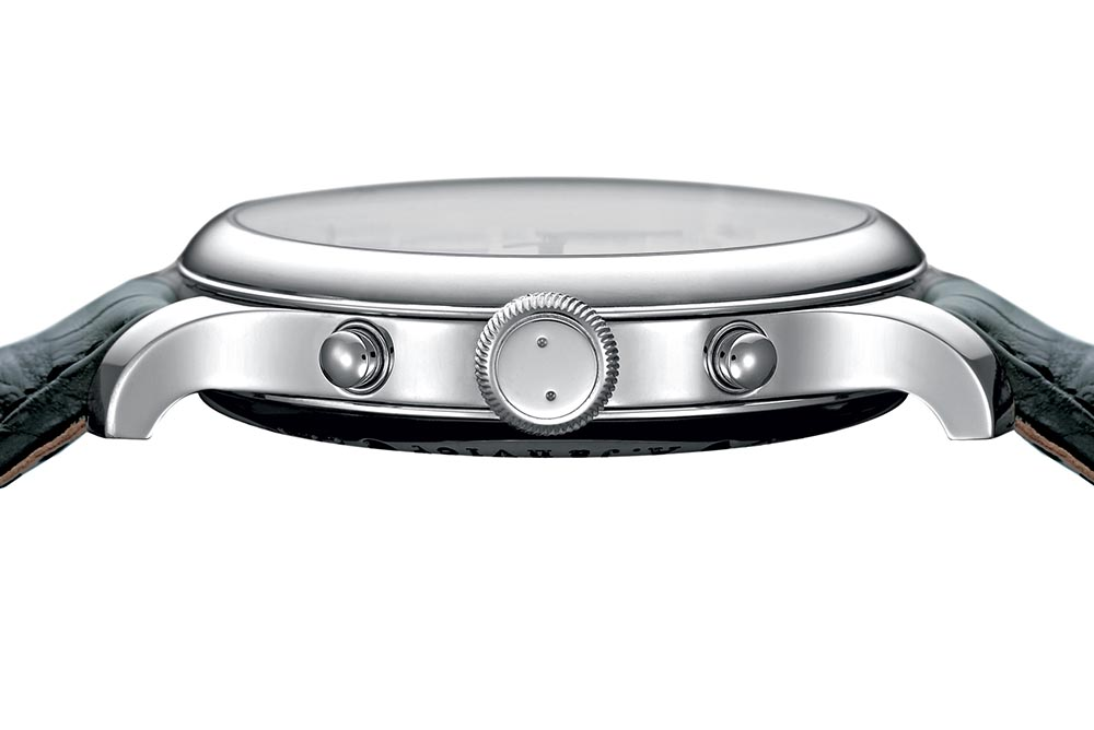 Sonnerie Souveraine's 42mm steel case just has a12.55mm overall height