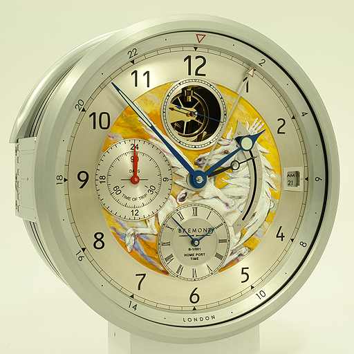 The artistic talent of rock and roll legend Ronnie Wood is featured on Bremont's B1 Marine Clock