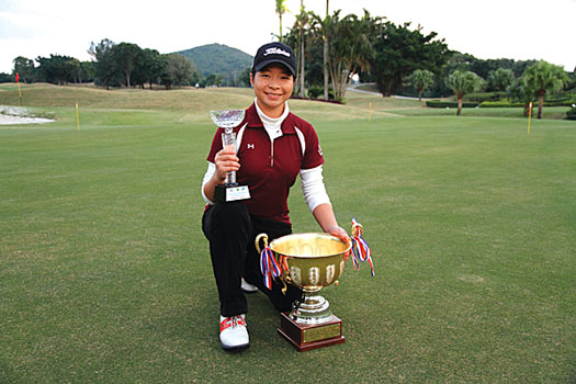 Mimi fired rounds of 77 and 72 for an emphatic 15-shot win