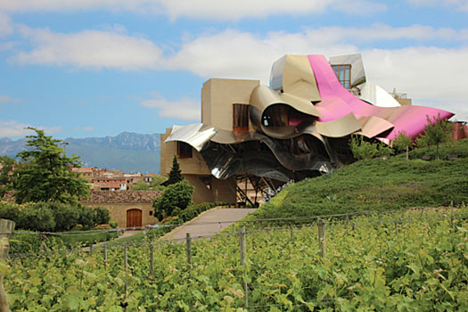 The Frank Gehry-designed Marques de Riscal winery