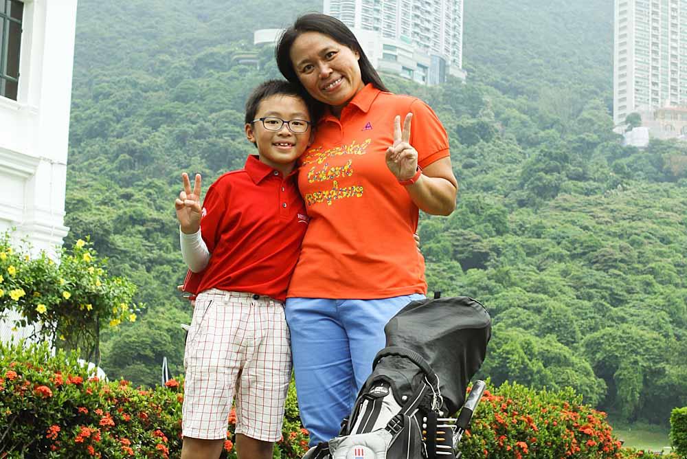Anson Ng and mother Shirley Leung