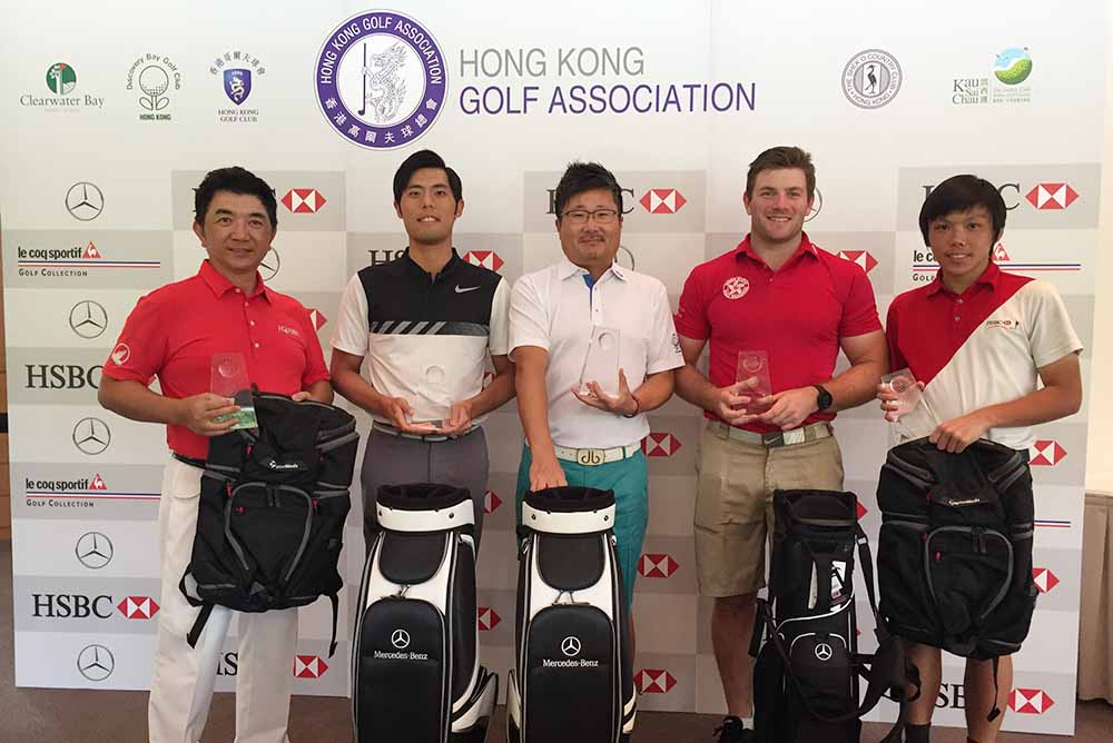 Winners of Men's Stroke Play: (Left to Right) Tai Chi Ming, Andres Tsui, Thomas McColl, Jay Won, Arnold Jr Lee